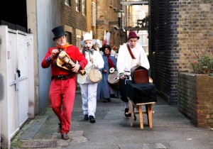 """Pulcinella's Progress"" through Rotherhithe"