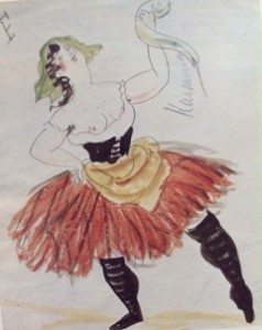 Picasso's costume for Pulchinella 1920